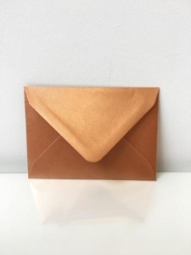 Small Pearl Copper Envelopes C7 Size